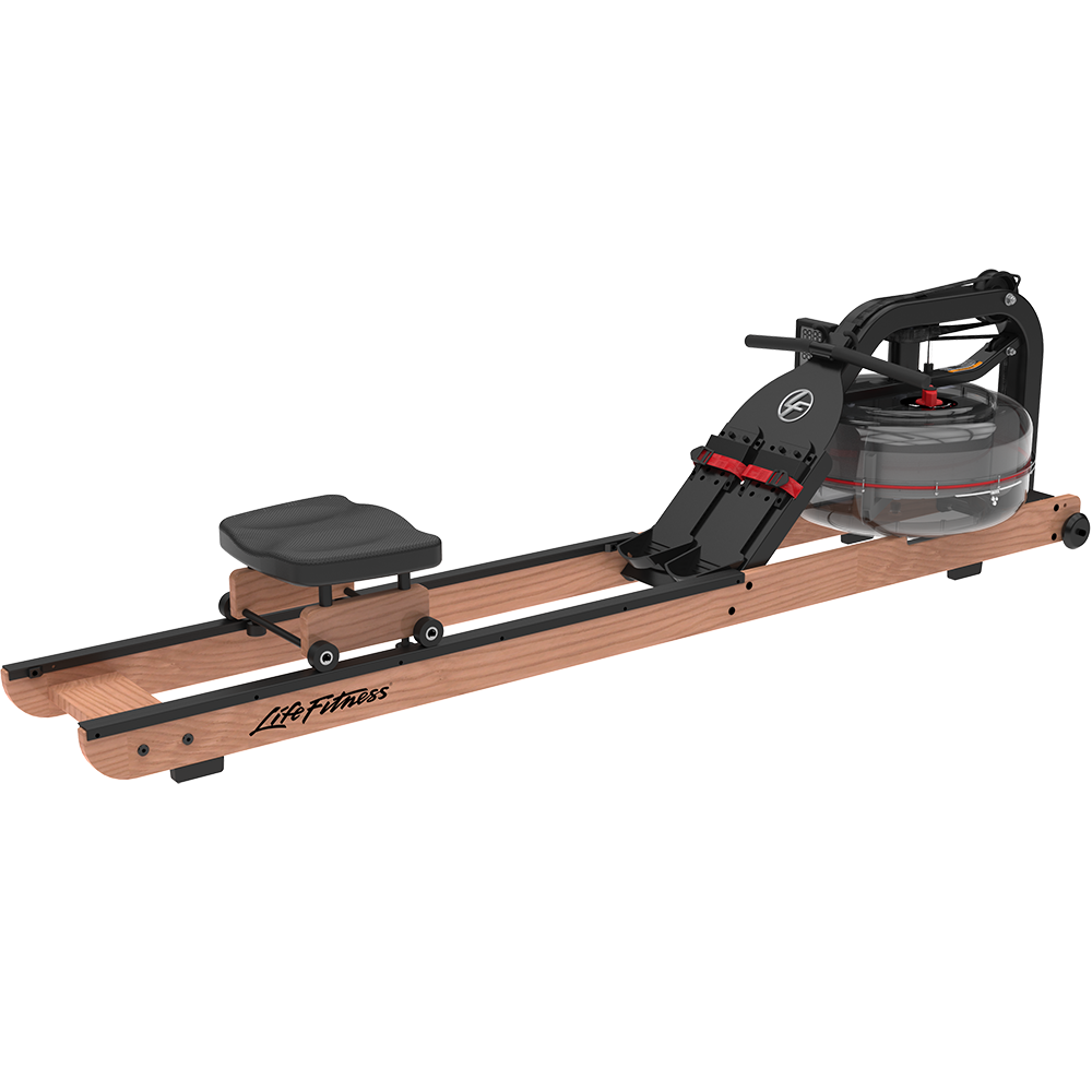 Life Fitness Row HX Rowing Machine with Wood Accent