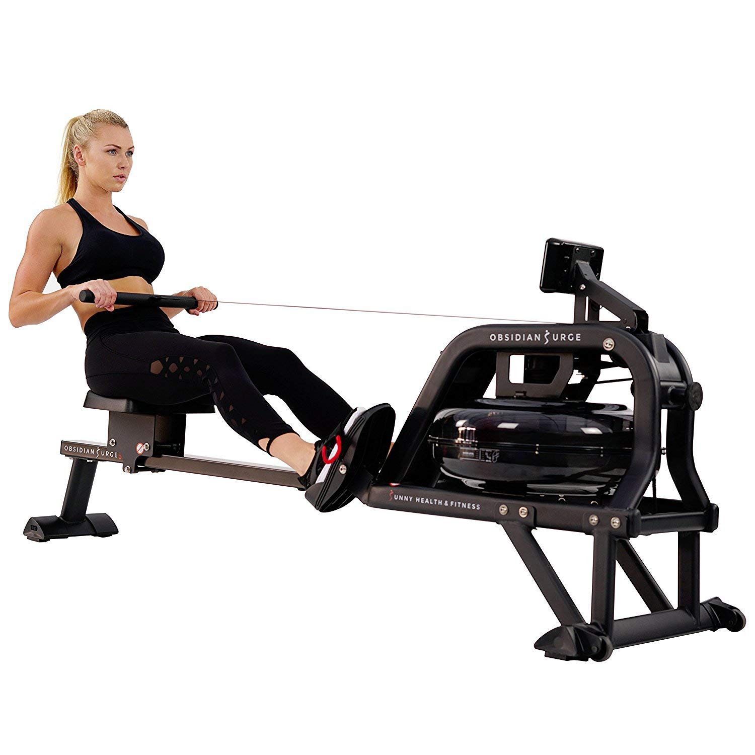 Sunny Health Obsidian Surge Water Rowing Machine