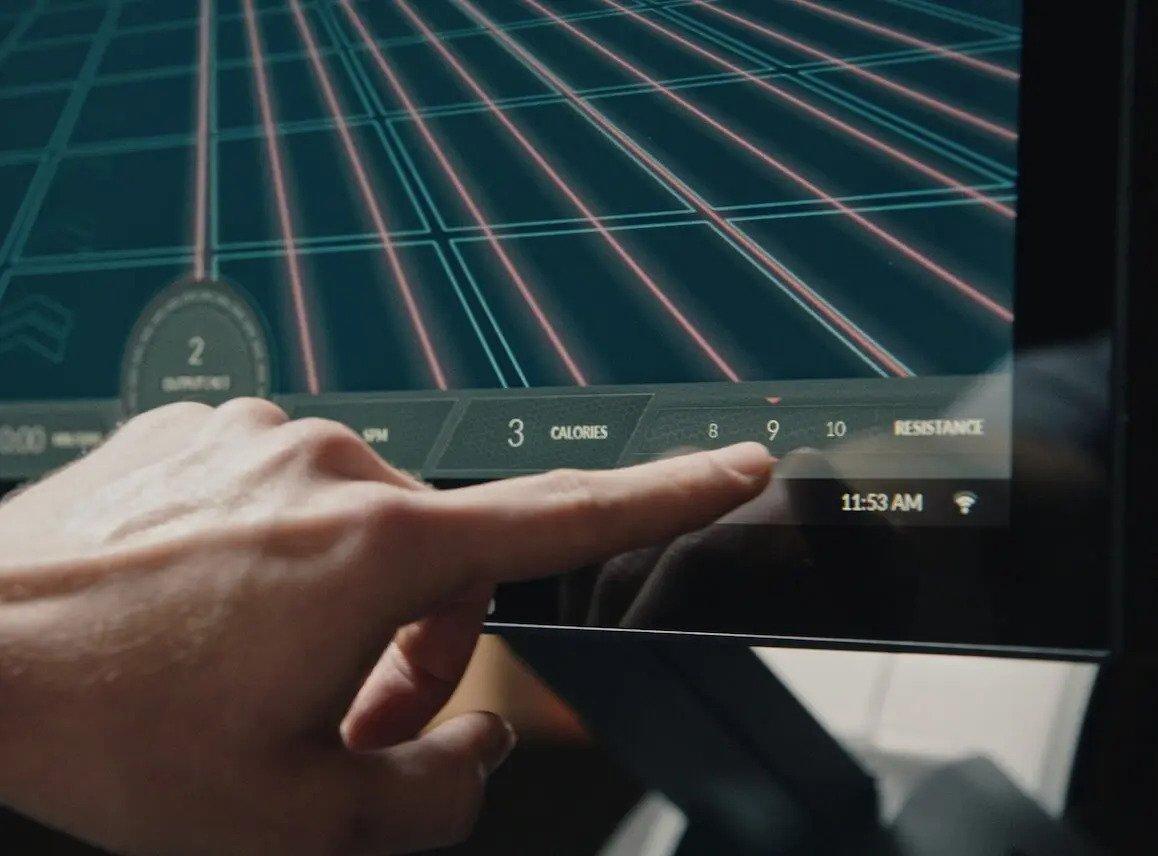 Aviron Rower Touch Screen Technology