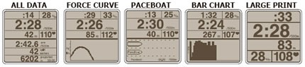 Concept2 PM4 Graphic Displays