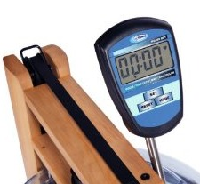 H2O Fitness Seattle Wooden Rower Console